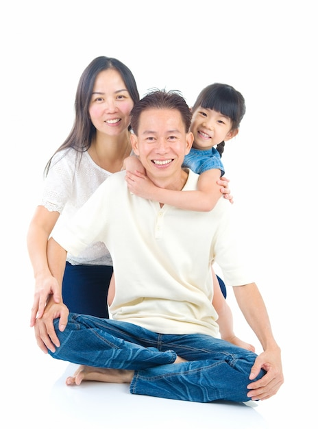 Retrato, de, família asian Foto Premium