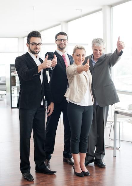 Retrato de grupo de pessoas de negócios e executivos Foto Premium