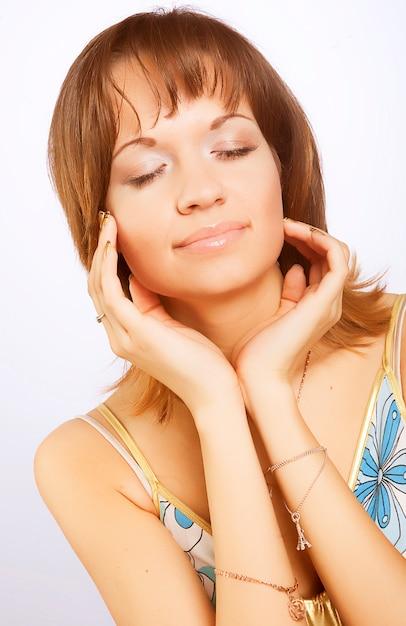 Retrato de mulher fresca e bonita Foto Premium