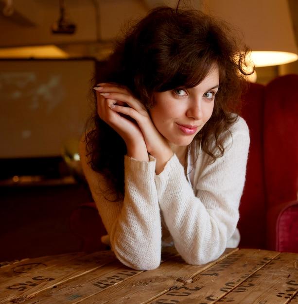 Retrato de mulher Foto Premium