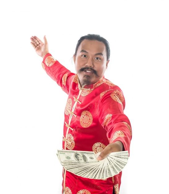 Retrato de pessoa adulta dólar branco Foto gratuita