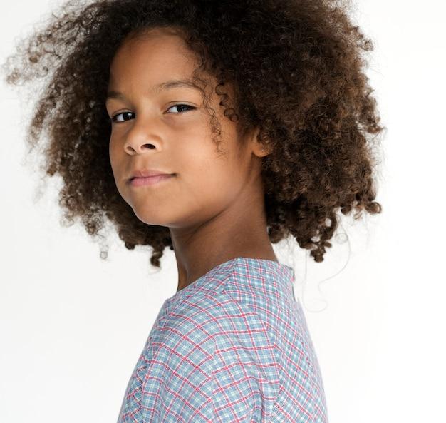 Retrato, de, um, auto-estima, descida africana, menina Foto Premium