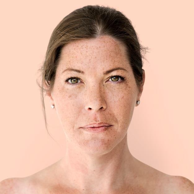 Retrato, de, um, britânico, mulher Foto gratuita