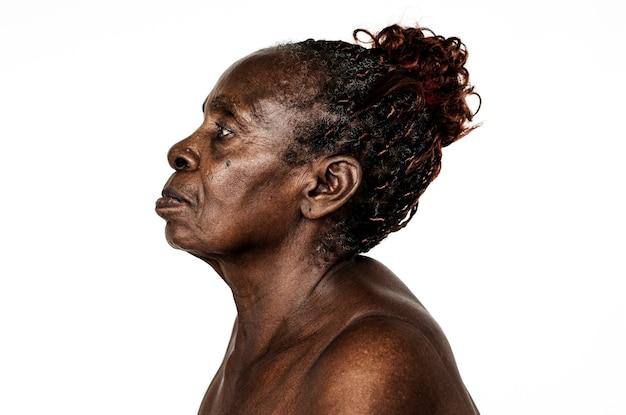 Retrato, de, um, congolês, mulher Foto gratuita
