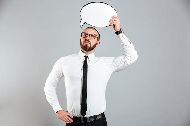 Retrato de um homem de negócios sério Foto Premium
