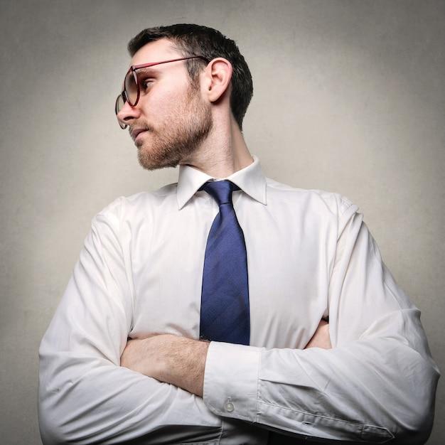 Retrato, de, um, homem negócios Foto Premium