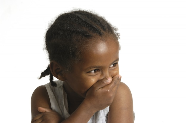Retrato, de, um, jovem, africano Foto Premium