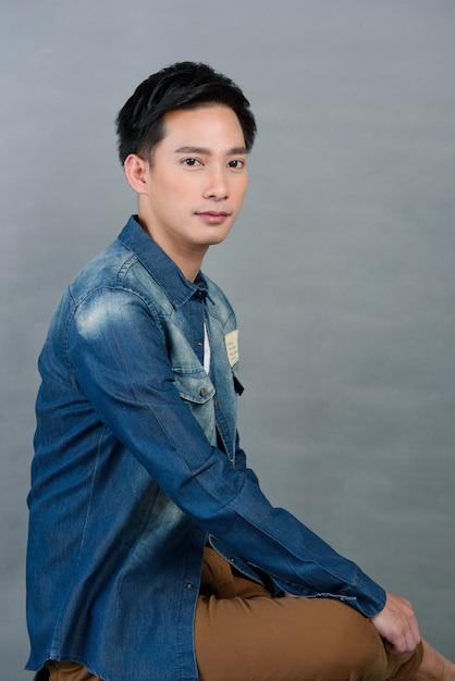 Retrato jovem asiático, adolescente, Foto Premium