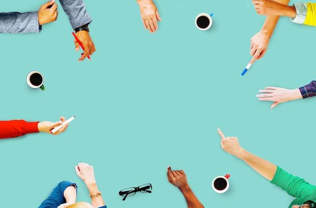 Reunião de comunicação planejamento pessoas de negócios conceito Foto gratuita