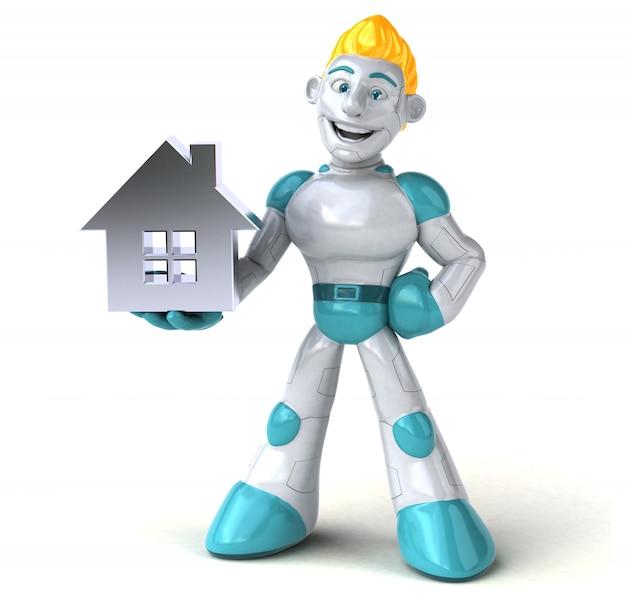 Robô - ilustração 3d Foto Premium