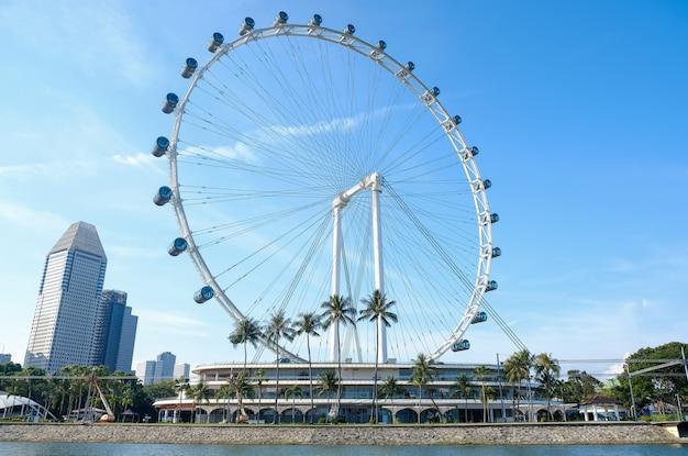 Roda gigante de singapura Foto Premium