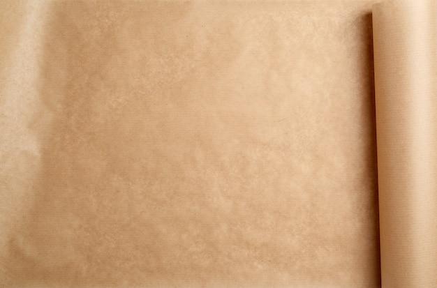 Rolo de papel marrom expandido, moldura completa Foto Premium