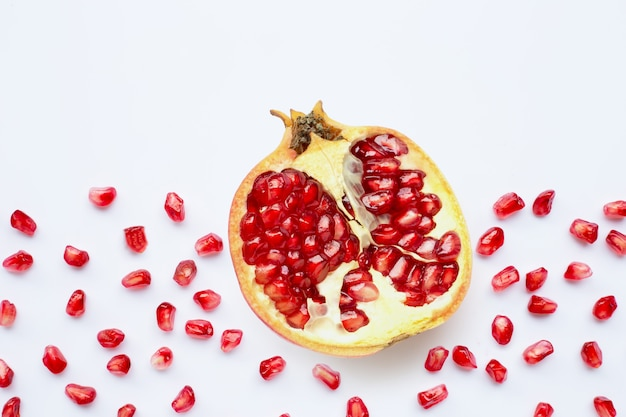 Romã frutas e sementes Foto Premium
