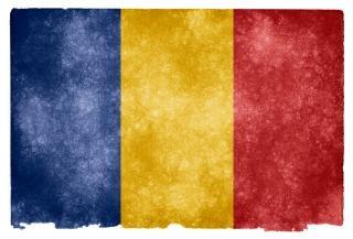 Romania nação bandeira do grunge Foto gratuita