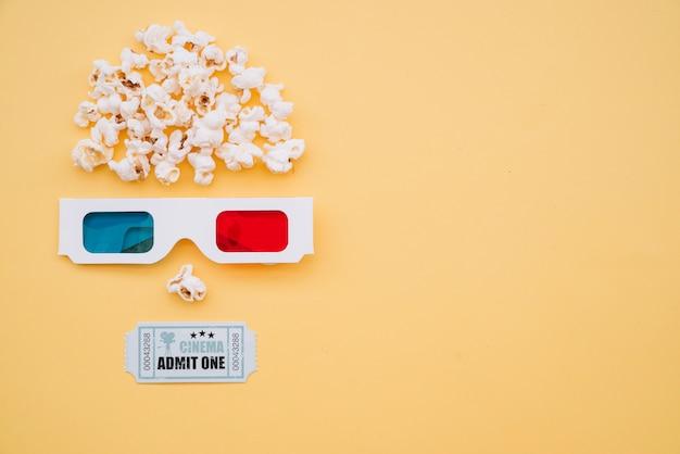 Rosto, com, cinema, elementos Foto gratuita