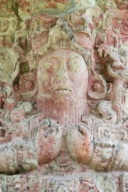 Ruínas maias em um sítio arqueológico, copan, copán ruinas, honduras Foto Premium