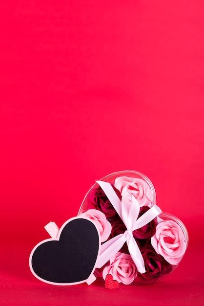 Sabonete decorativo em forma de rosas Foto Premium