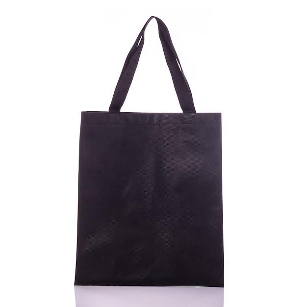 Saco de algodão preto. Foto Premium