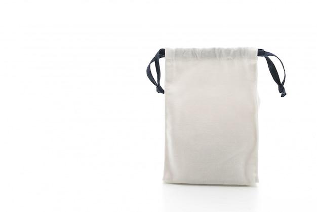 Saco de tecido bonito em branco Foto Premium