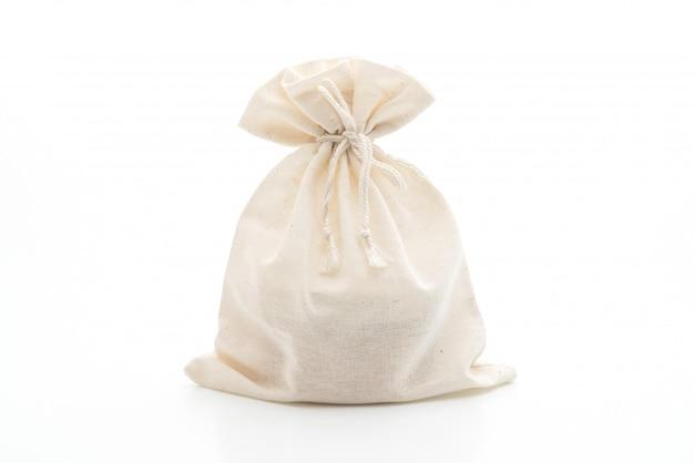 Saco de tecido branco em branco Foto Premium