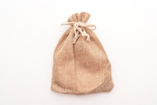 Saco de tecido saco branco Foto Premium