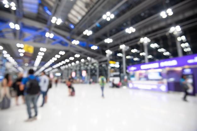 Safra de férias de aeroporto turva abstrata Foto Premium