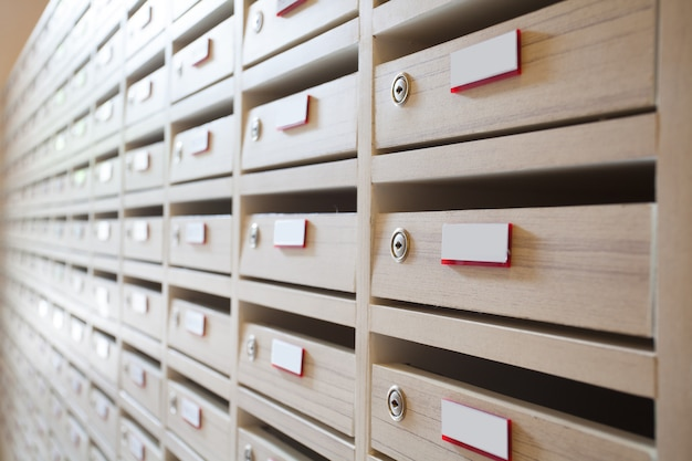 Sala de caixa de correio e caixa de correio Foto Premium