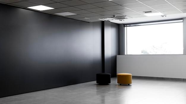 Sala de escritório vazia com espaço de cópia Foto Premium