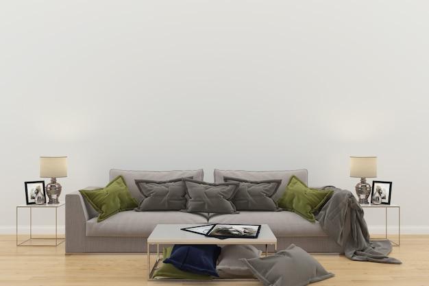 Sala de estar interior casa piso design cópia espaço Foto Premium