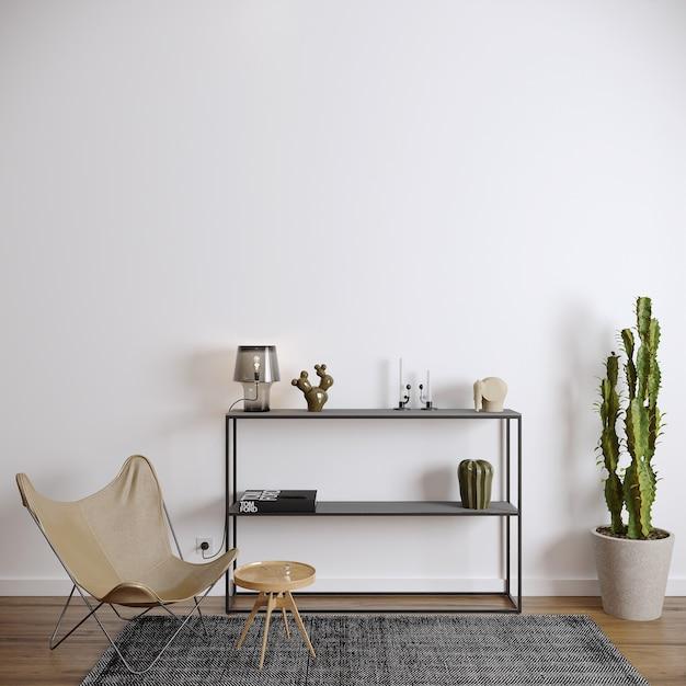 Sala de estar moderna com cadeira Foto Premium