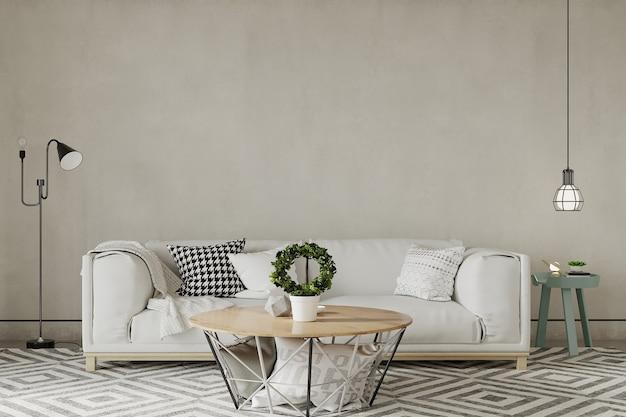 Sala de estar moderna com móveis Foto Premium