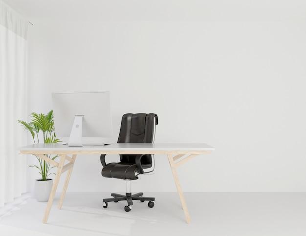 Sala de trabalho de escritório interior mock up espaço de cópia Foto Premium