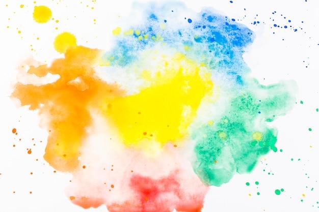 Salpicos de aguarela colorida Foto gratuita