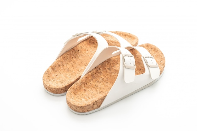 Sandálias de couro de moda masculina e feminina (unissex) Foto Premium