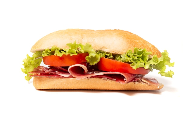 Sanduíche com presunto defumado Foto Premium