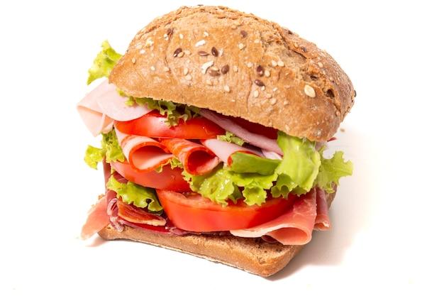 Sanduíche com presunto Foto Premium
