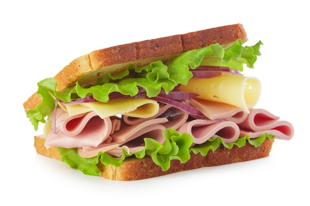 Sanduíche em branco Foto Premium