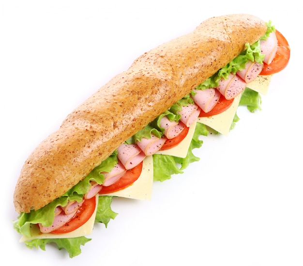Sanduíche fresco e saboroso Foto gratuita