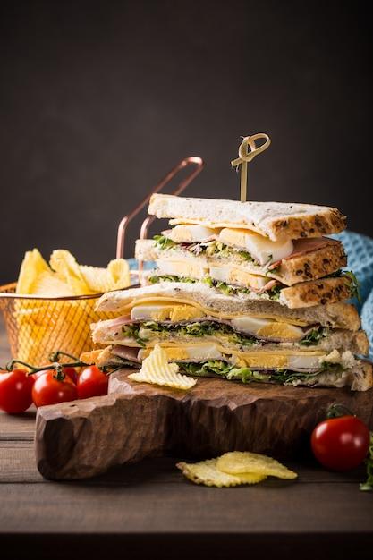 Sanduíche fresco Foto Premium