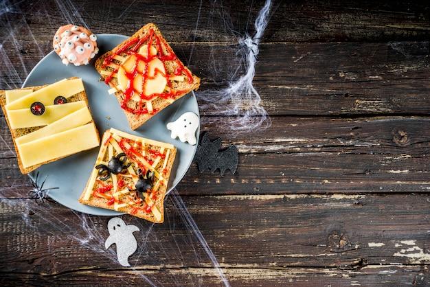 Sanduíches engraçados de halloween Foto Premium