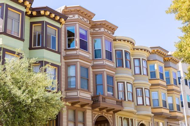 São francisco casas vitorianas califórnia Foto Premium