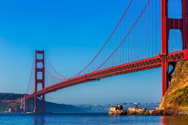 São francisco, ponte dourada portão, califórnia Foto Premium