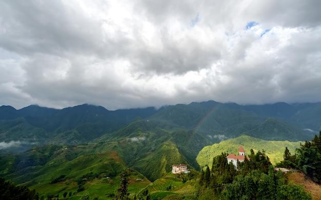 Sapa cidade no vietnã Foto Premium