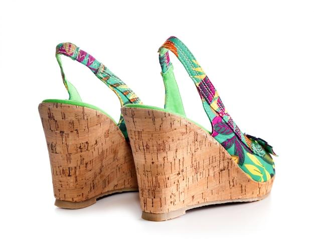 Sapato de mulher de salto alto Foto Premium