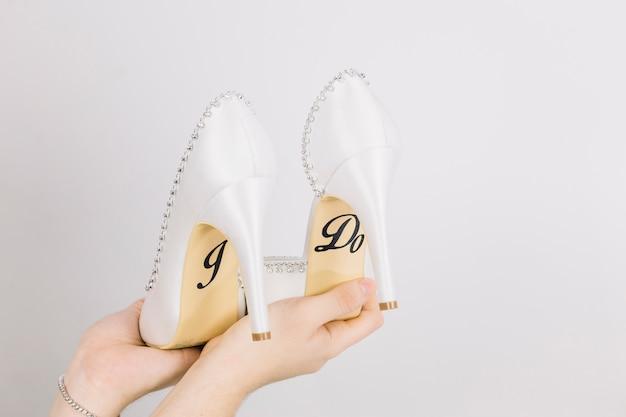 Sapatos de casamento Foto gratuita