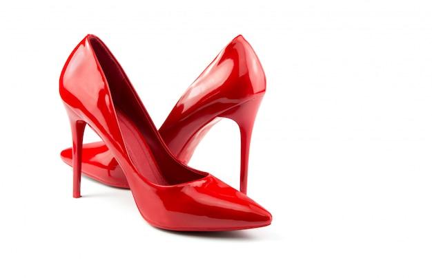 Sapatos de mulher vermelha Foto Premium