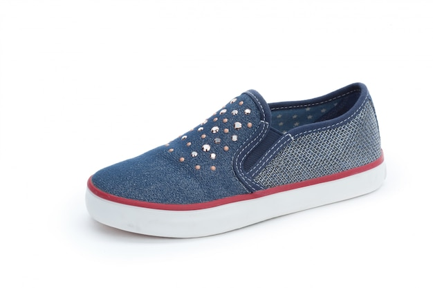 Sapatos de mulheres elegantes isolados no branco Foto Premium
