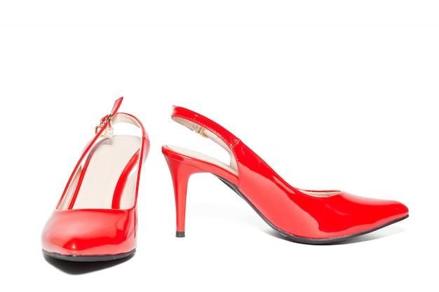 Sapatos de salto alto vermelhos femininos Foto Premium