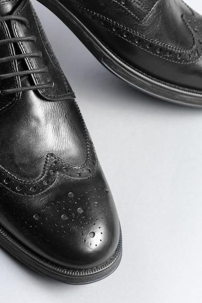 Sapatos masculinos de couro Foto Premium