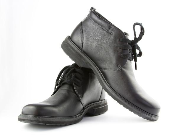 Sapatos pretos isolar Foto Premium